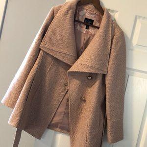Jessica Simpson's Asymmetrical Belted Walker Coat